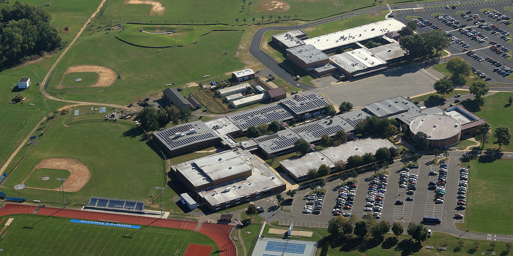 Northern Burlington HS Aerial