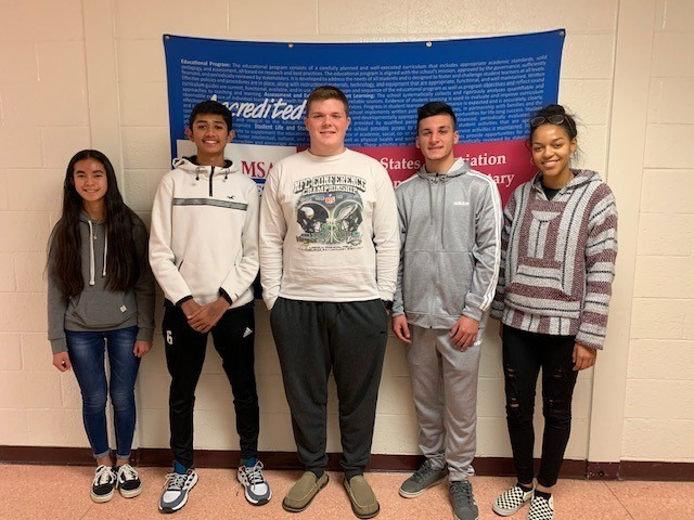 December 2019 Students of the Month